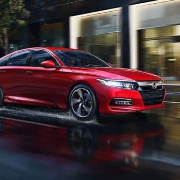 2018 Honda Accord driving rain
