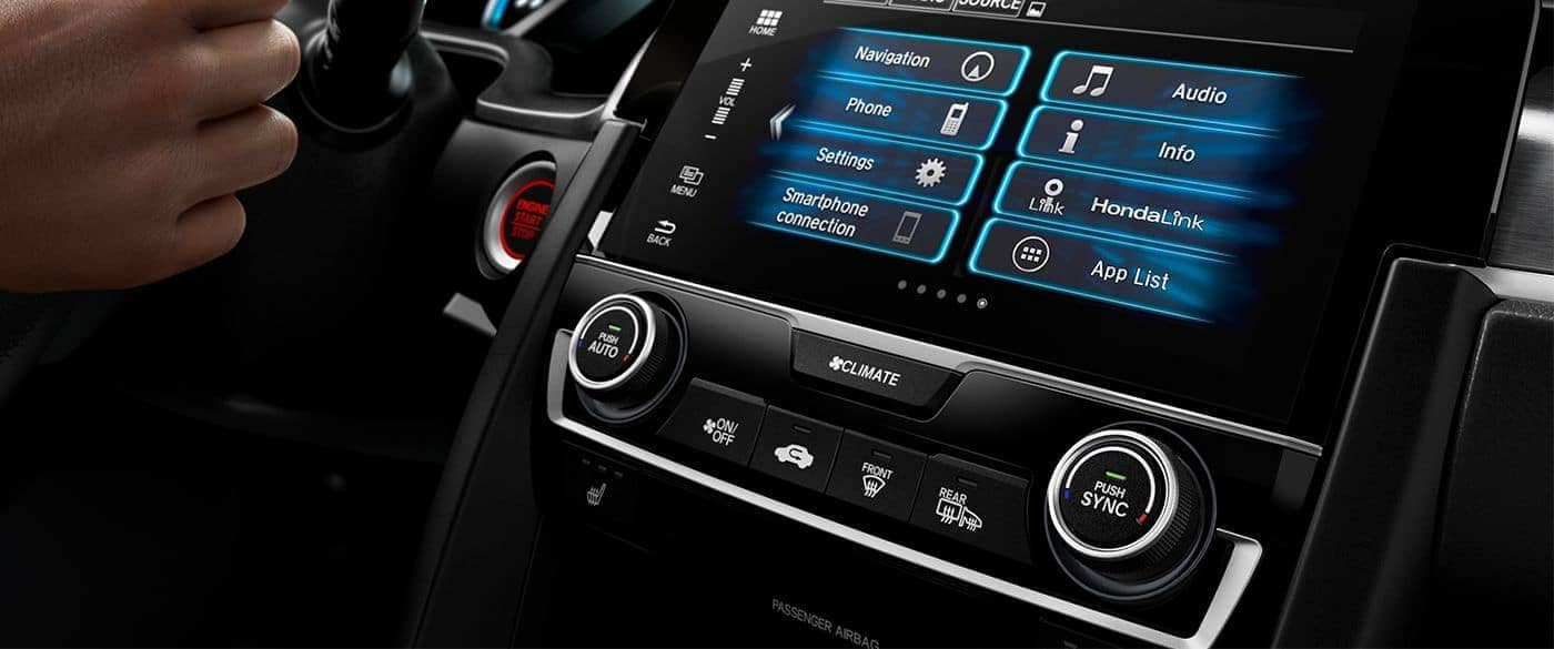 honda link infotainment screen in 2018 Honda Civic