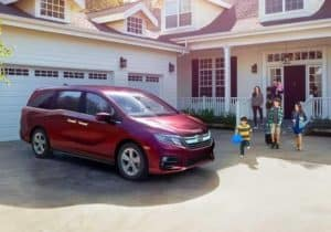 2019 Honda Odyssey parked in front of family home