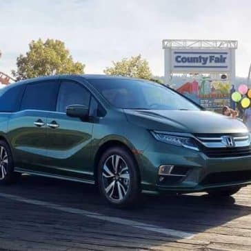 2019 Honda Odyssey parked at amusement park