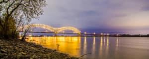 Hernando de Soto Bridge at Dusk
