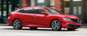 Red 2019 Honda Civic Sedan