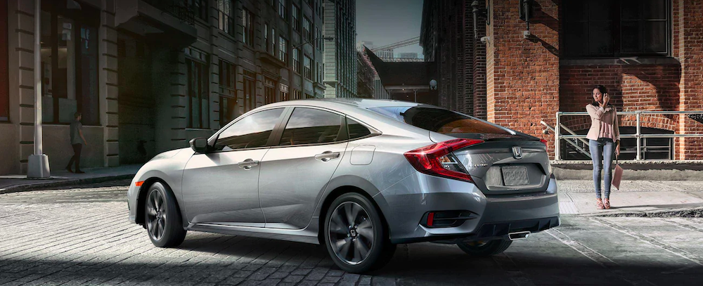 Silver 2019 Honda Civic Sedan Parked