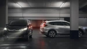 2019 Honda CR-V EX and CR-V Touring in parking garage