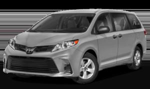 2019 Toyota Sienna grey minivan