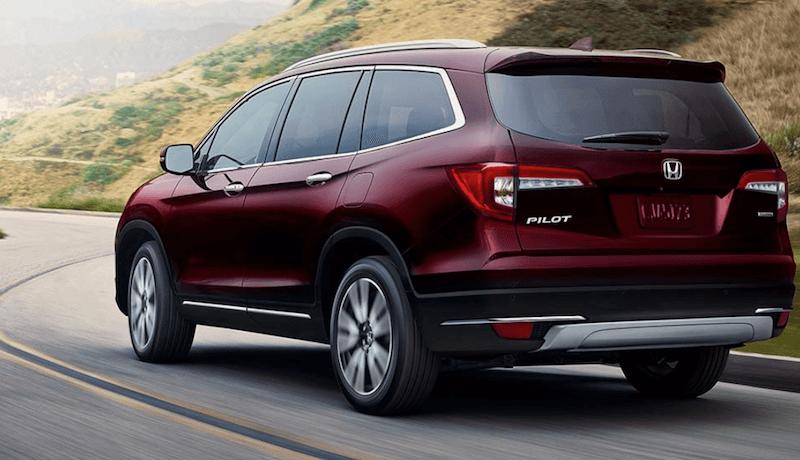 2019 Honda Pilot red SUV