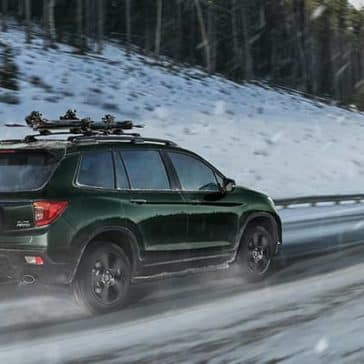 2019 Honda Passport In Snow