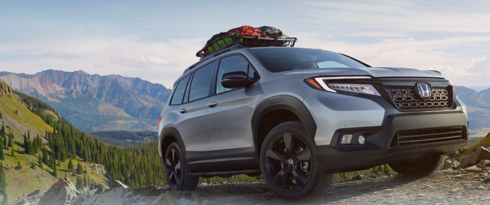 2019 Silver Honda Passport