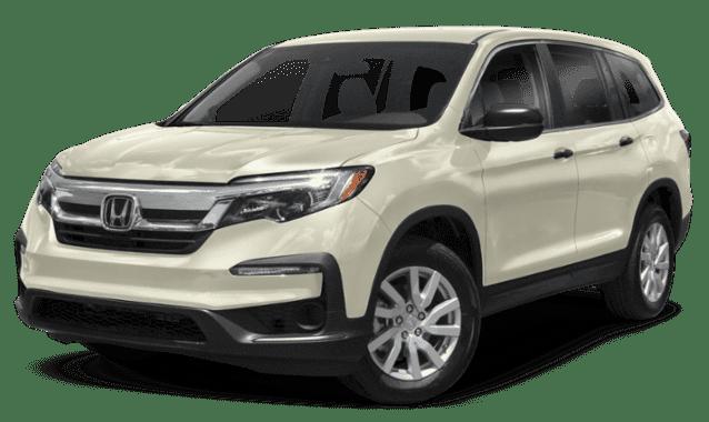 White 2019 Honda Pilot Sideface