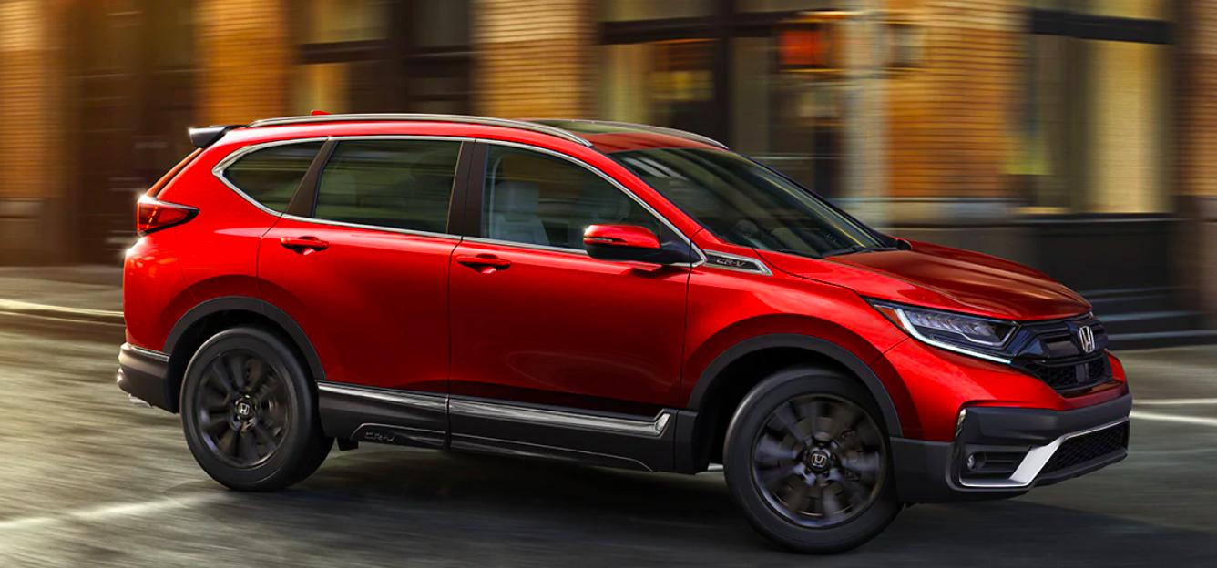 Honda CR-V on Road Red