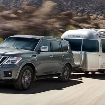2018 Nissan Armada tows a trailer