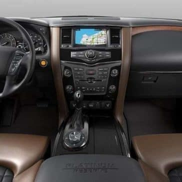 dashboard of 2018 Nissan Armada