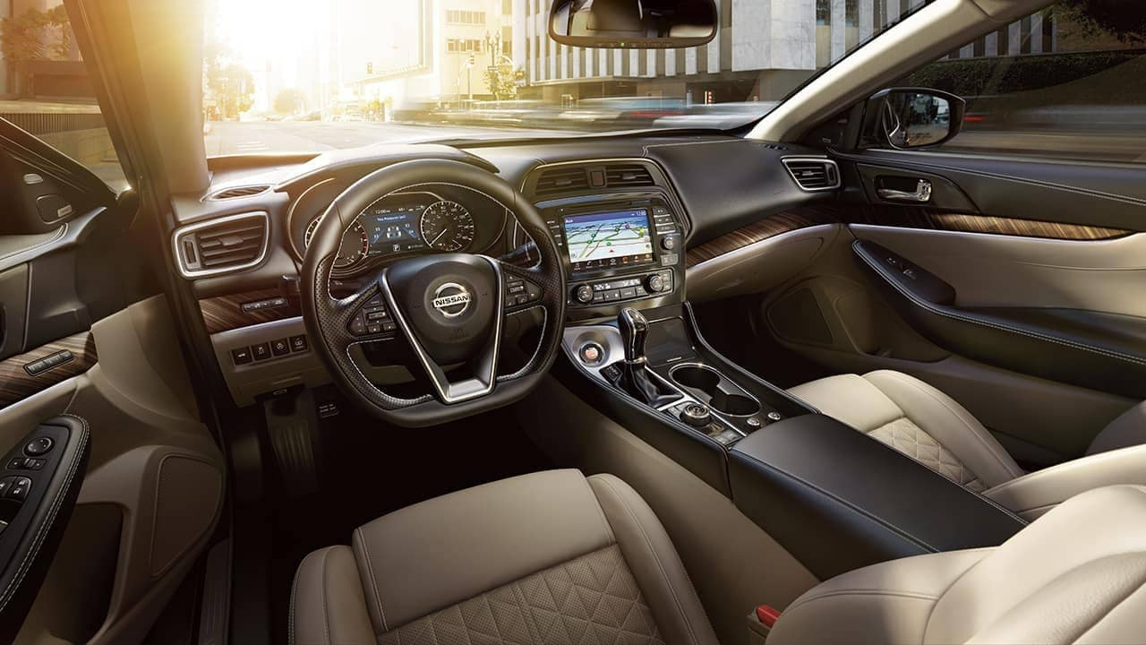 interior cabin of 2018 Nissan Maxima