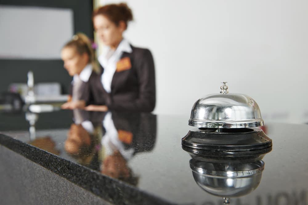 Bell at Hotel Front Desk