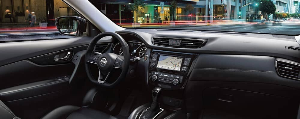 2018 Nissan Rogue interior with navigation
