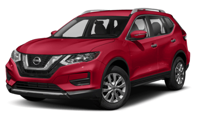 2019 Nissan Rogue red SUV