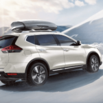 2019 Nissan Rogue white in snow
