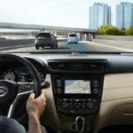 Nissan Rogue driver's POV