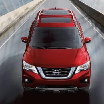 2020 Nissan Pathfinder Crossing Bridge