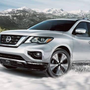 2020 Nissan Pathfinder In the Snow