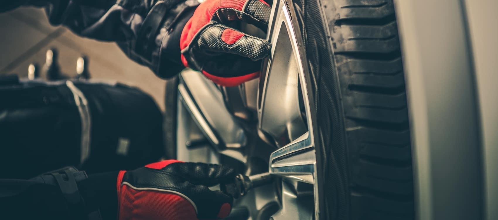 rotating tires